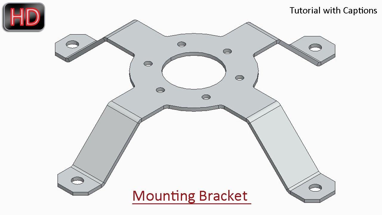 Mounting Bracket Creo Parametric Sheet Metal Tutorial
