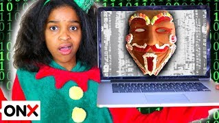 Shasha and Shiloh Get HACKED By Gingerbread Man!! - Onyx Kids