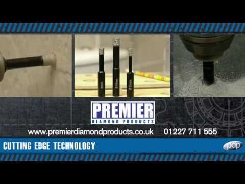 Premier Diamond Products DP19025 P6-ATD 12mm X 80mm Auto-Cool Diamond Tile Drill