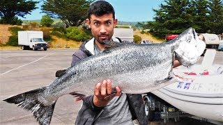 Catch and Cook, Smoke and Eat GARGANTUAN King Salmon!!!!!!
