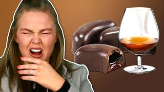 Irish People Try Alcohol Chocolates
