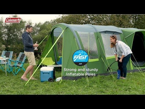 video Coleman Weathermaster 4XL Air Tent