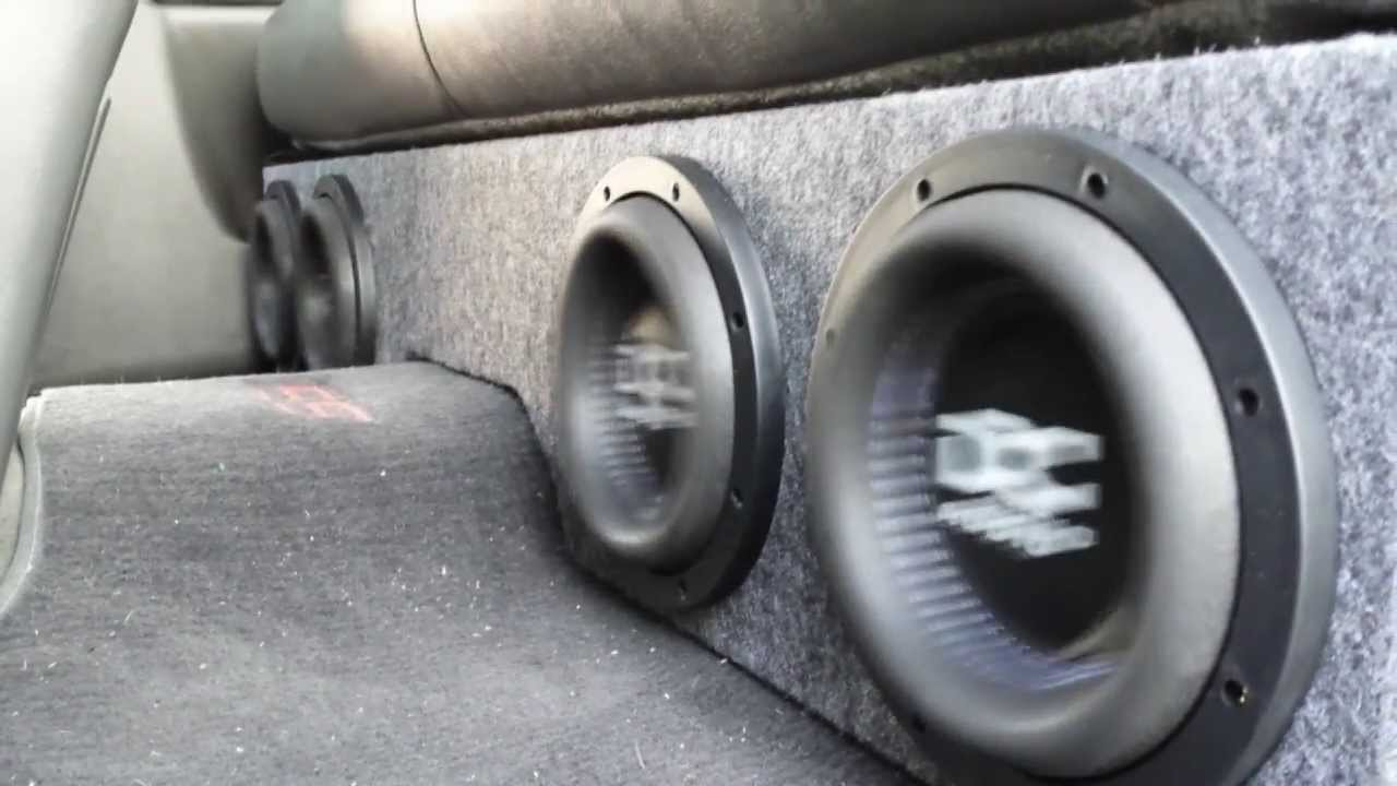 """How to Build a box for 4 8"""" Subwoofers in a Silverado ..."""