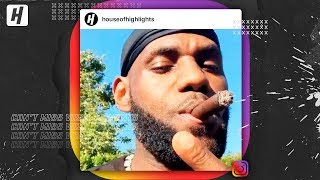 LeBron James smoking cigars with Russell Westbrook, Chris Paul & MORE!