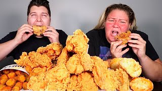 Redneck Deep Fried Chicken • MUKBANG