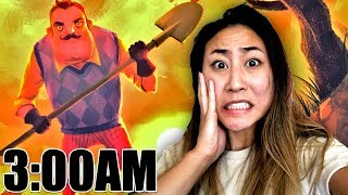 DO NOT PLAY HELLO NEIGHBOR AT 3AM!! (3AM CHALLENGE)
