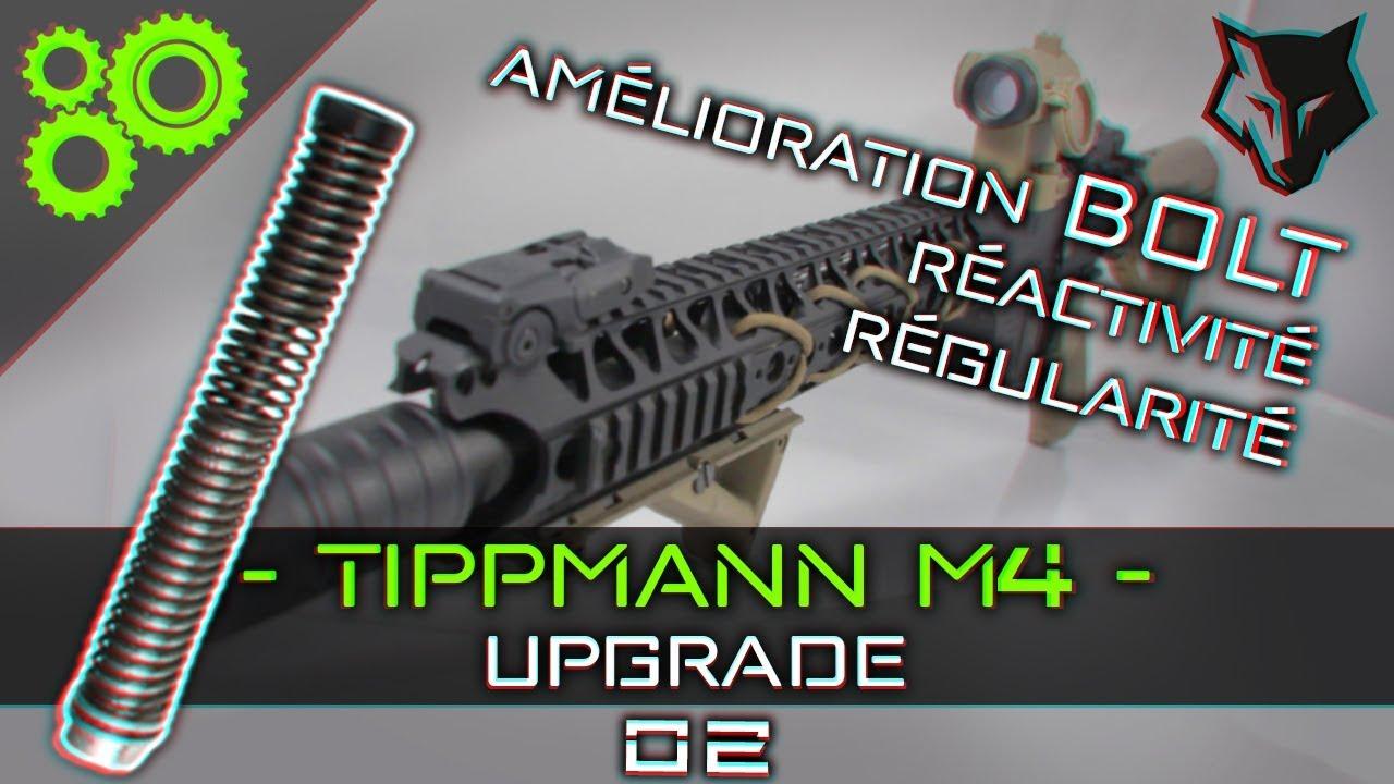 Tippmann M4 Upgrade #02 - Amélioration Bolt/Ensemble ressort ► AIRSOFT