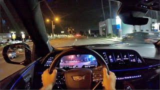 2021 Cadillac Escalade Platinum POV Night Drive (3D Audio)(ASMR)