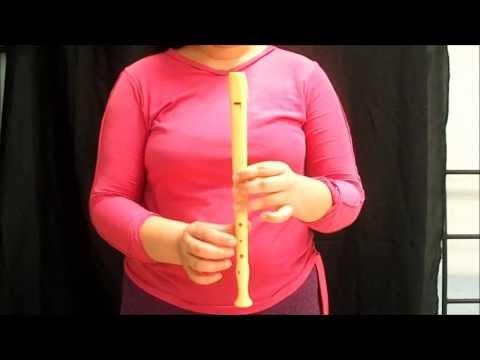 clases para principiantes, las posiciones de la flauta dulce parte 1