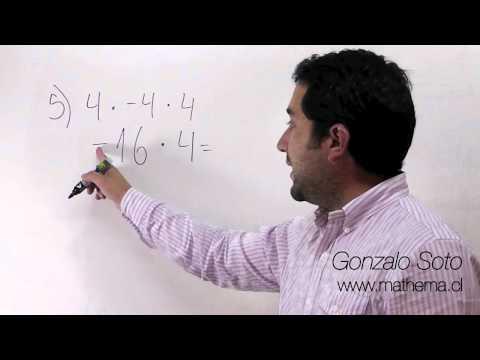 Conjunto Z: Multiplicación de números con distinto signo