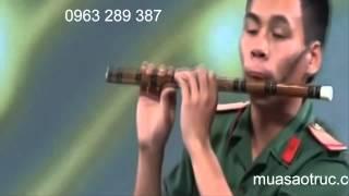 Thánh sáo tầu - Kỹ thuật thổi sáo bài - chào em cô gái lam hồng