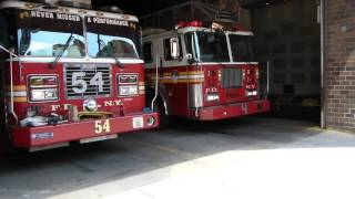 FDNY Engine! 54, Ladder! 4, and Battalion! 9 are first due on a Class III alarm