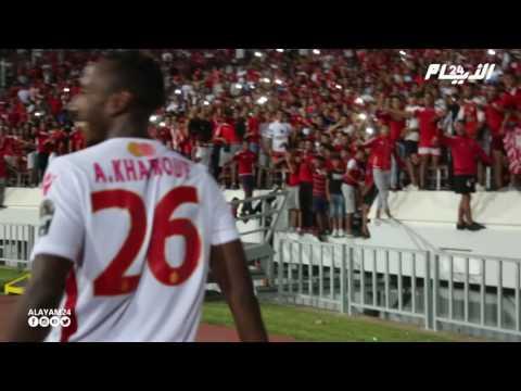 فرحة لاعبي الوداد بعد التأهل و الفوز على زاناكو الزامبي