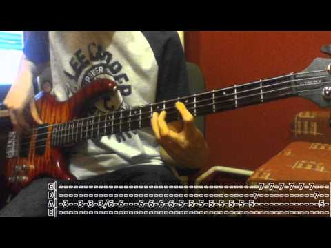 Red Hot Chili Peppers - She's Only 18 (Bass Cover with TABS!)