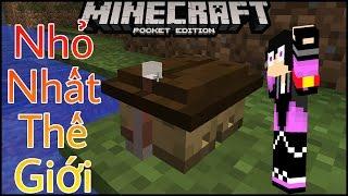 Cách làm căn nhà NHỎ NHẤT THẾ GIỚI trong Minecraft PE (Dễ)