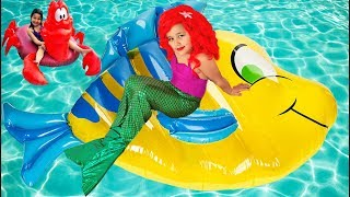 Disney Princess Ariel's Pool Party Mermaid Inflatable Toys