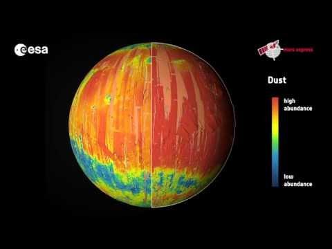 Mars mineral globe