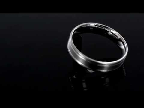 Browns Family Jewellers Men's Palladium Patterned Wedding Ring
