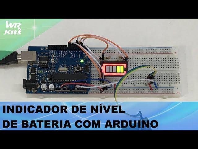 PROJETO COM DISPLAY PARA INDICAÇÃO DE BATERIA E ARDUINO