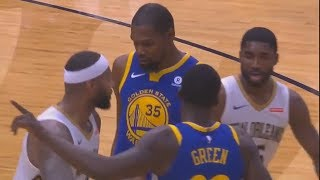 Kevin Durant vs DeMarcus Cousins Scuffle and Trash Talking With Draymond Green