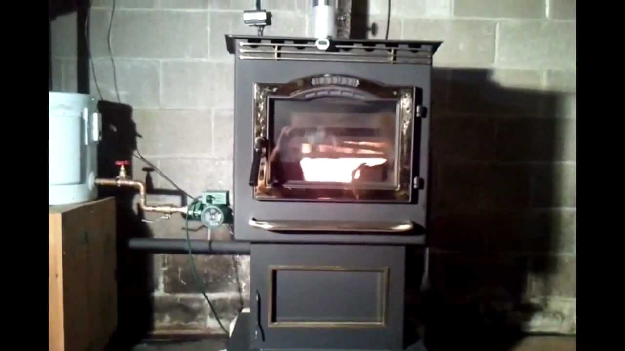 Wood Pellet Boiler >> Convert your pellet stove or corn stove into a boiler using a crosslink conversion kit. - YouTube