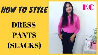 How to Style  Black Dress Pants