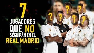 7 JUGADORES QUE NO SEGUIRÁN EN EL REAL MADRID LA PRÓXIMA TEMPORADA *HAY UN CAPITÁN*