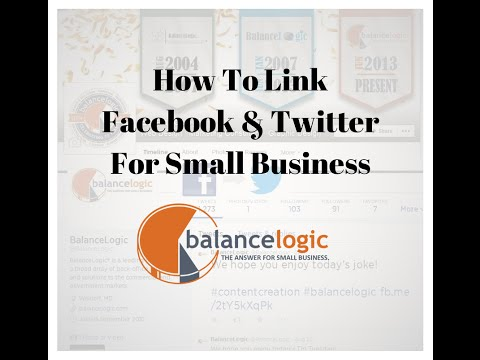 How to Link Your Twitter Account to Your Company Facebook Page