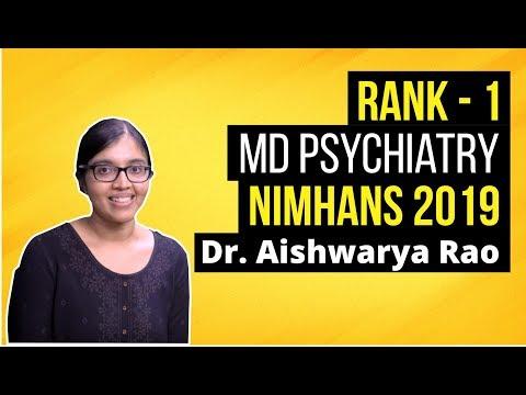 Nimhans Psychiatry 2019 Topper Dr. Aishwarya Rao - DBMCI Student