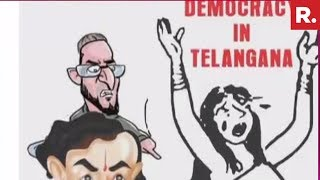 T-Cong Poster Insults EC, Shows Democracy as Draupadi..