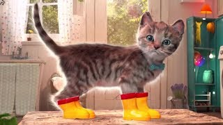 Play Fun Pet Care Games for Children - Little Kitten Adventures Costume Party Gameplay