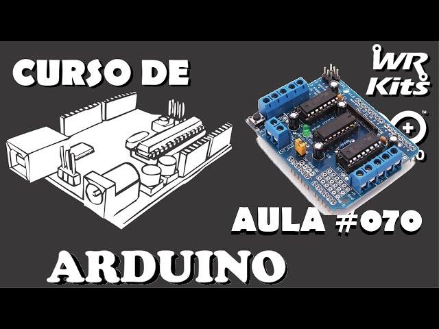 CONTROLE DE SERVOS COM MOTOR SHIELD | Curso de Arduino #070