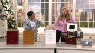 Luxury Deluxe Wood Cosmetic Box w/Mirror by Lori Greiner on QVC