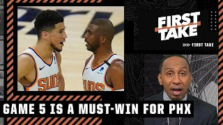 Game 5 is a must-win for the Suns - Stephen A. says the Finals is over if the Bucks win | First Take