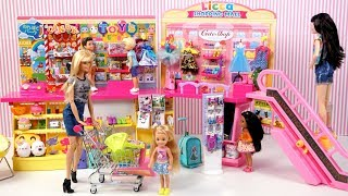 Barbie and Chelsea Go Shopping Toy Store, Candy Shop & School Supplies