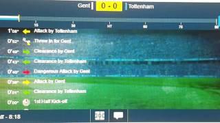 Gent- Tottenham hot spur live -
