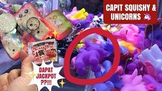 CAPIT SQUISHY & LITTLE PONY   MAIN BOLA MISTERI DAPAT JACKPOT??!! CLAW MACHINE   夾娃娃