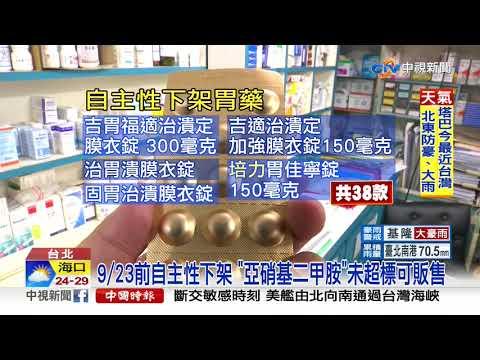 預防性下架 38款胃藥疑含致癌成分│中視新聞 20190921