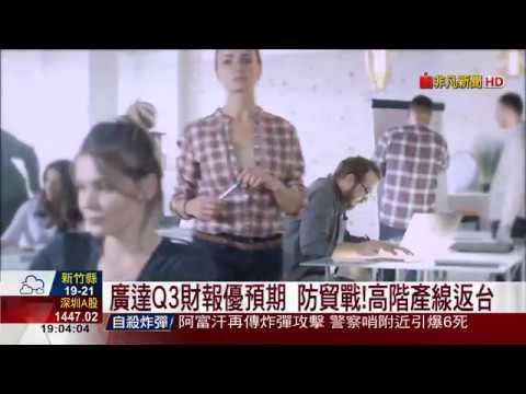 【非凡新聞】廣達財報優於預期 Q4筆電下修5%
