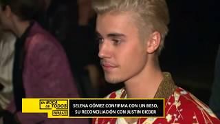 Selena Gómez confirma con un beso su relación con Justin Bieber