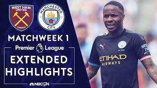 West Ham v. Manchester City | PREMIER LEAGUE HIGHLIGHTS | 8/10/19 | NBC Sports