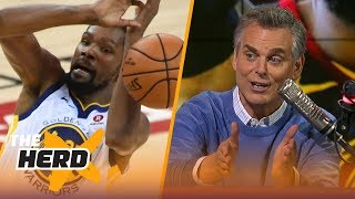 Colin Cowherd: JR Smith's mistake overshadowed Durant's weak 4th quarter | NBA | THE HERD