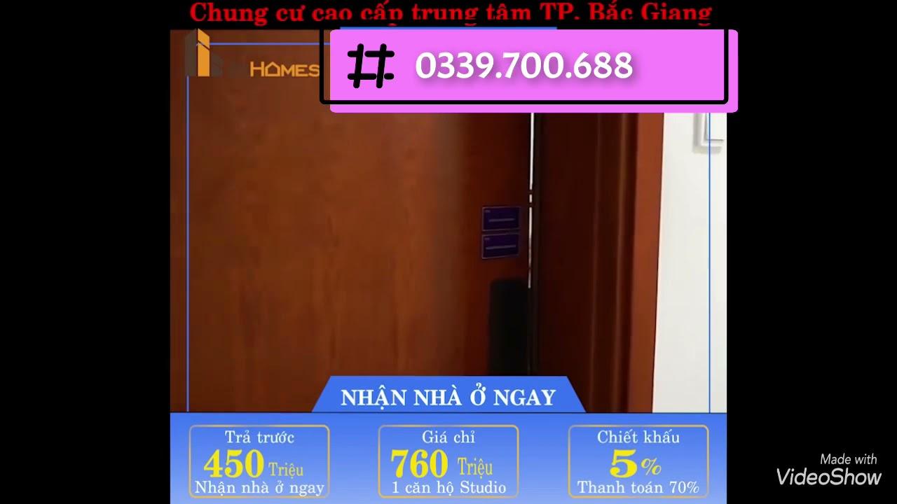 Phân phối độc quyền chung cư Saigontel Bắc Giang - hỗ trợ thủ tục pháp lý, giá chỉ từ 710tr/căn 1PN video