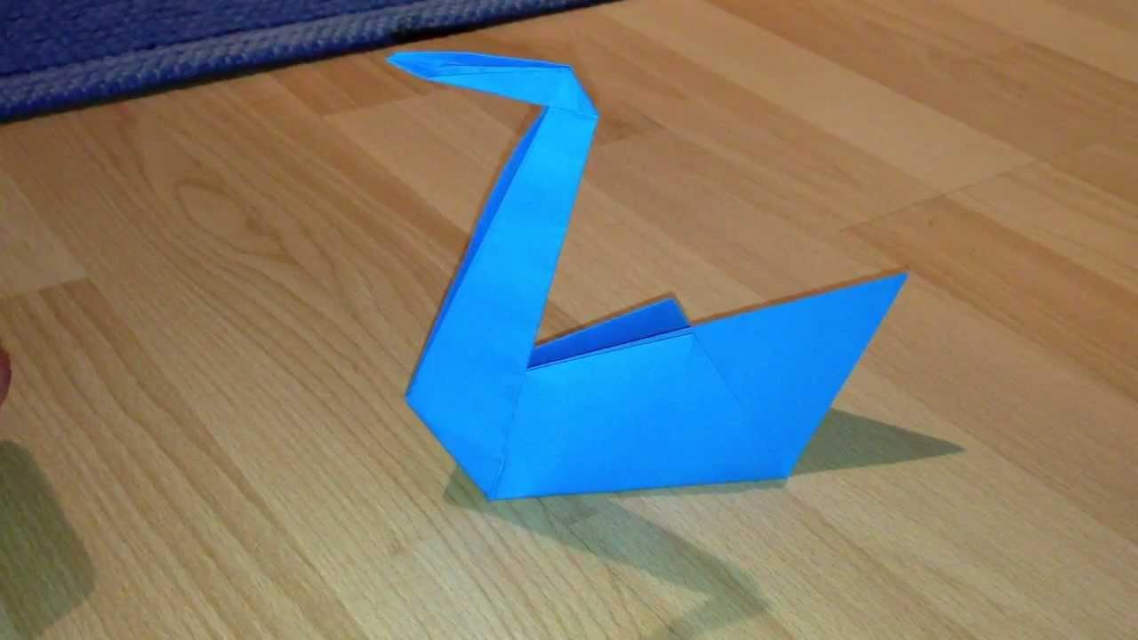 Schwan Aus Papier Basteln / Origami- Schwan Falten