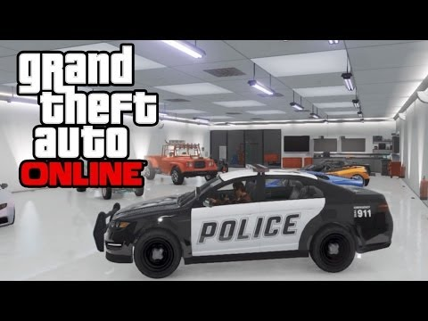 GTA 5 Online - How To Save Police Cars, Firetrucks, Vans & MORE In Your Garage! GTA Online Glitch!