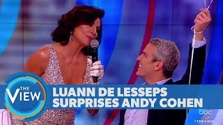 Andy Cohen Gets Surprise Birthday Serenade From Luann de Lesseps | The View