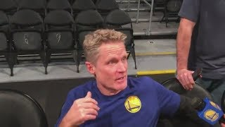 Steve Kerr comments on Lonzo Ball's struggles before Warriors vs. Lakers game | ESPN