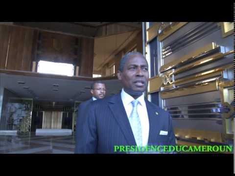 Audience de S.E Paul Biya au Premier Ministre de Sao-Tomé et Principe