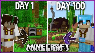 I Played Minecraft for 100 Days.. (1.16 Survival)