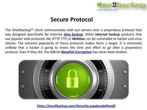 Data Backup Security - One2backup